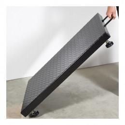 Bascula de plataforma de perfil bajo con asa